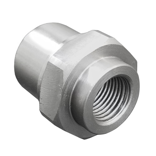 "3/8""-24 LH x 3/4"" .058"" Tube Adapter, Hex Style"