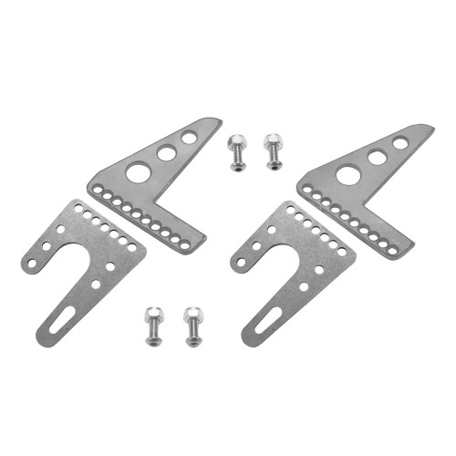 Quarter-Max Adjustable Front End Fork Mount Kit - Raw Brackets