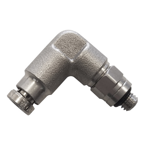 "Air Fitting 5/32"" Hose to 10-32 90° Swivel"