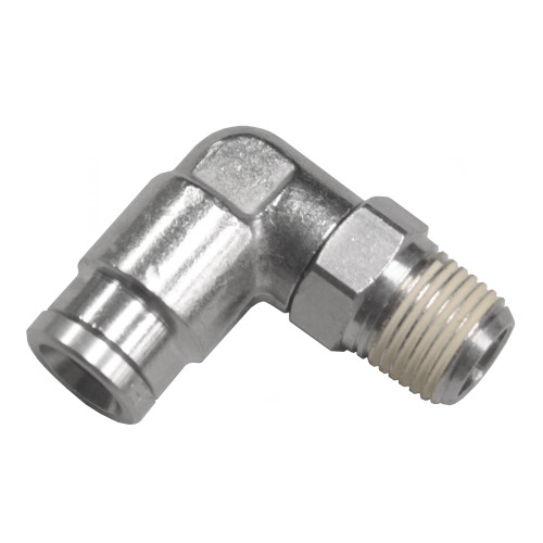 """Air Fitting 1/4"""" Hose to 1/8"""" NPT 90° Swivel"""