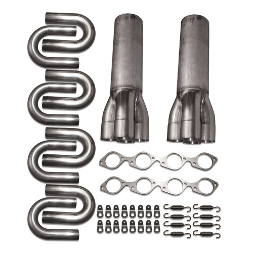 BBC Stainless Steel Side Exit Header Kit