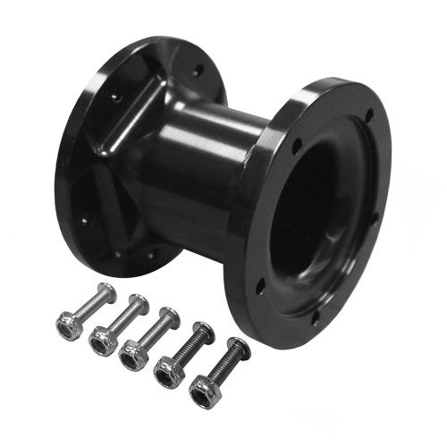 Quarter-Max Billet Steering Wheel Hub Extension, Black, 3""