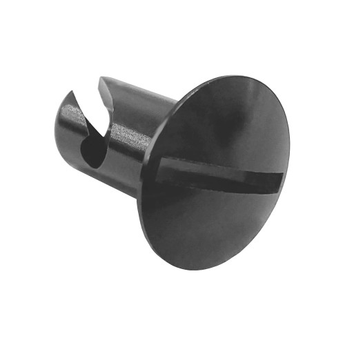 5/16 in. Oval Slotted Head Quarter Turn Fastener, Aluminum, Black Anodized, .500 in. Grip Length