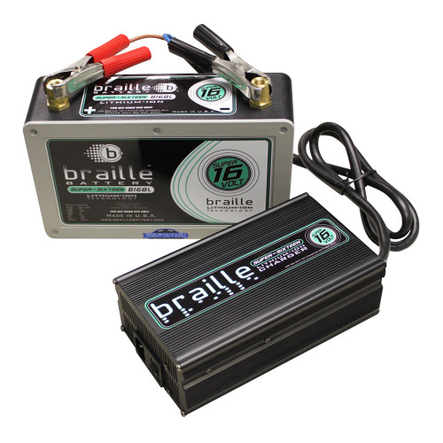 Braille Super 16 Volt Lithium Battery and Charger Combo