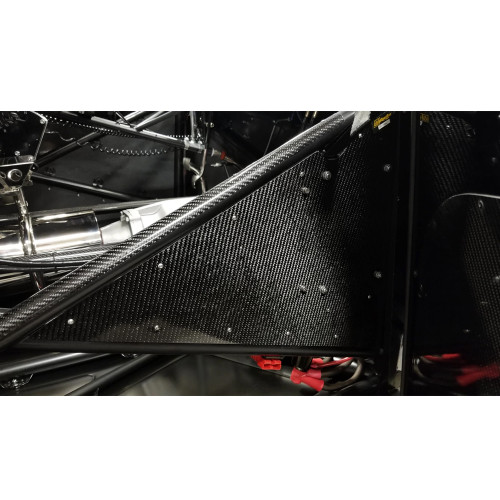Quarter-Max Carbon Fiber Tube Protector - Installed