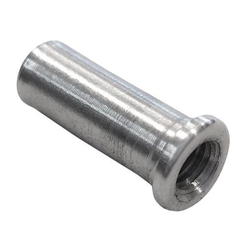 """10-32 RH x 3/8"""" .037"""" Tube Adapter for Carbon Fiber Tube"""