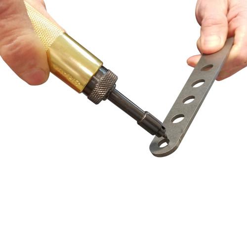 Deburring Tool in use.