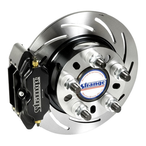 "Strange Engineering B1708WC Pro Series Rear Brake Kit for Early Big Ford Ends, 2.332"" Offset, Soft Metallic Brake Pads"