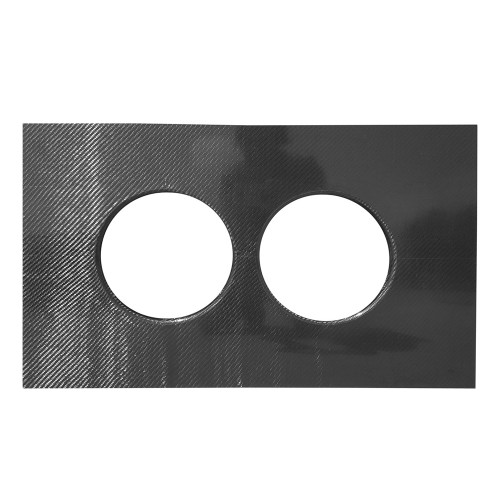 "Quarter-Max Carbon Fiber Isolator Tray for Braswell 7390 Carburetors 9.800"" Spacing"