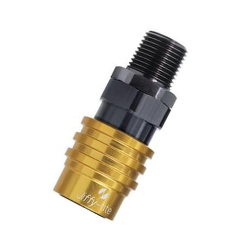 "Jiffy-tite 5000 Series Valved Socket, 1/2"" NPT Straight Male Fitting"
