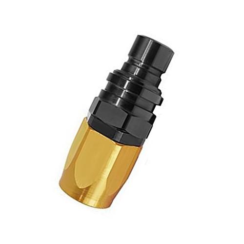 Jiffy-tite 5000 Series Valved Plug, -10 AN Straight Reusable Nut Hose End