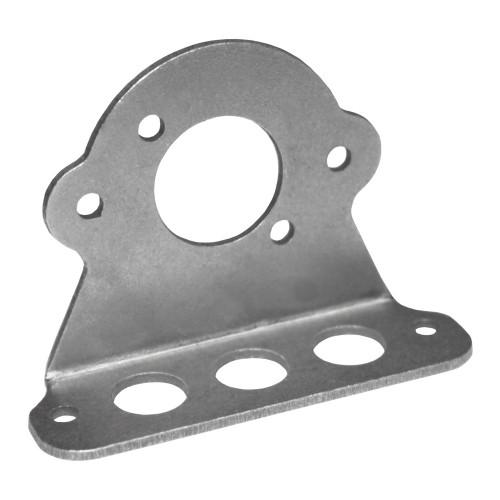 7/16 in. Lightweight Quarter Turn Fastener 90 Degree Plate, Mild Steel