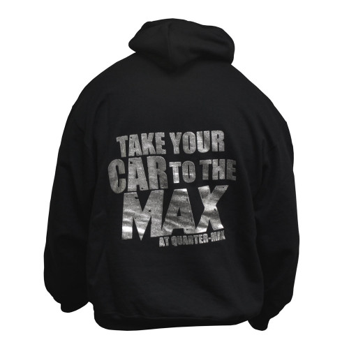 Quarter-Max Take Your Car To The Max Hooded Sweatshirt - back