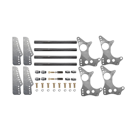 "Quarter-Max 301101-3.25 4-Link Kit with Universal Chassis Brackets & 3-1/4"" Axle Tube Hole Size Housing Brackets"