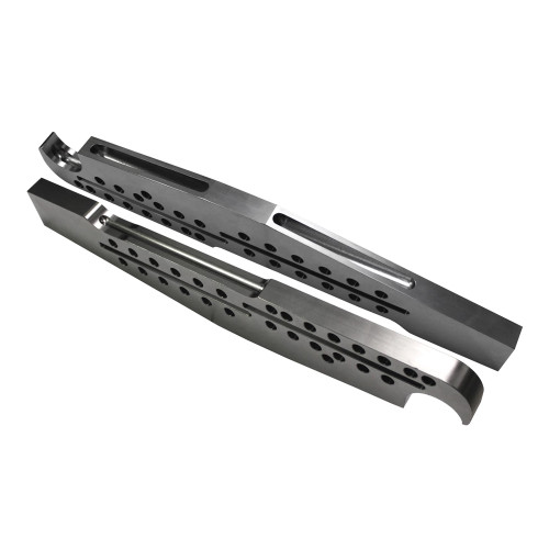 Quarter-Max Extreme Adjustable Billet 4-Link Chassis Brackets - Tall - Blank Top with Lower Notch