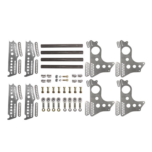 "Quarter-Max 201214-1 Extreme Pro Series 4-Link Kit with 13"" Notch Spread Chassis Brackets"