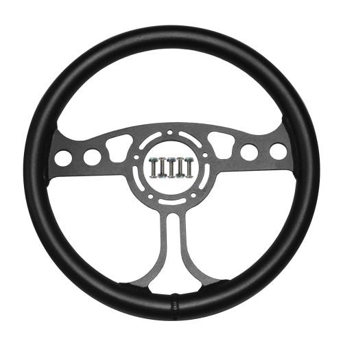 """RJ Max Light Steering Wheel 12"""" Black 5-Bolt"""