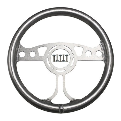 "RJ Max Light Steering Wheel 12"" Raw 5-Bolt"