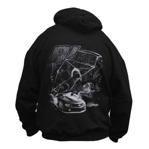 Quarter-Max/RJ Race Cars Chassis Hooded Sweatshirt - back