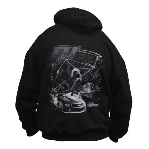 Quarter-Max/RJ Race Cars Chassis Hooded Sweatshirt - back