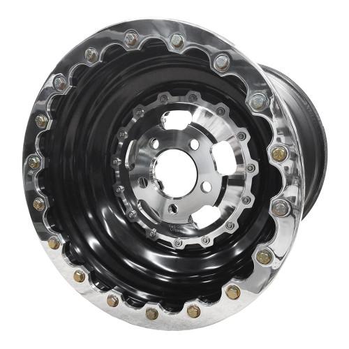 "Sander Engineering 760 Series, 16"" x 16"", 5"" x 5"", 5"" BS, Black Barrel, Polished Center/Ring"