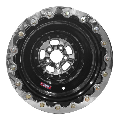 "Sander Engineering 760 Series, 16"" x 16"", 5"" x 4.75"", 4"" BS, Black Barrel, Polished Center/Ring"
