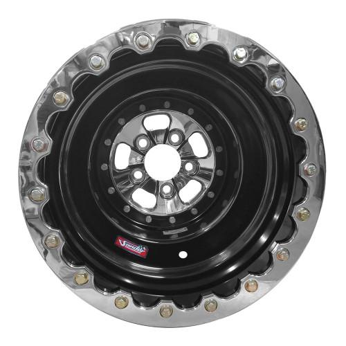 "Sander Engineering 760 Series, 16"" x 16"", 5"" x 4.75"", 5"" BS, Black Barrel, Polished Center/Ring"