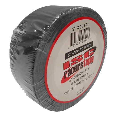 "ISC Racers Tape RT2004 Standard Duty Racers Tape, 2"" x 90', Black"