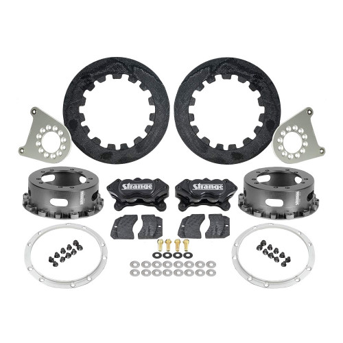 "Strange Engineering C1209WC Carbon Rear Brake Kit for Strange 2012 & Earlier Floater Kits, 4-3/4"" & 5"" BC"