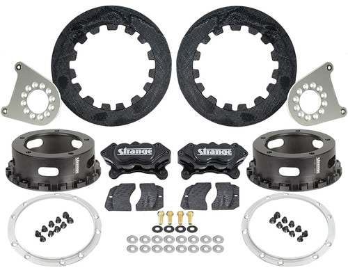 "Strange Engineering C1200WC Carbon Rear Brake Kit for Strange 2012 & Earlier Floater Kits, 5-1/2"" BC"