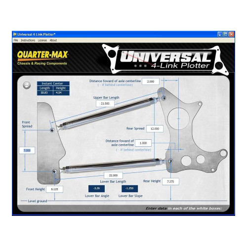 Quarter-Max Universal 4-Link Plotter Digital Download