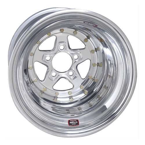 "Weld Racing AlumaStar 2.0, 15"" x 14"", 5"" x 4.75"", 4"" BS, Polished"