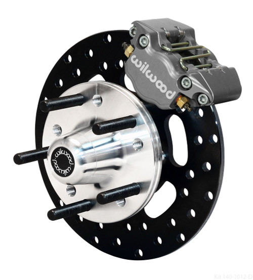 Dynapro Single Front Drag Brake Kit, 71-80 Pinto/Mustang II Disc & Drum