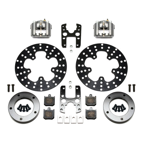 Dynalite Single Floater Front Drag Brake Kit, P&S, Anglia Spindle Mount Wheel