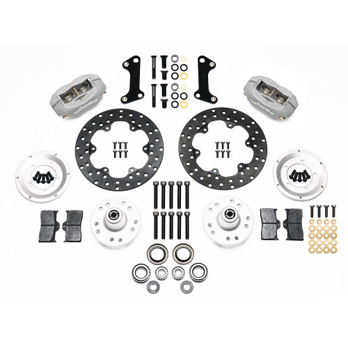 Forged Dynalite Front Drag Brake Kit, 67-69 Camaro, 64-72 Nova, Chevelle - Kit contents
