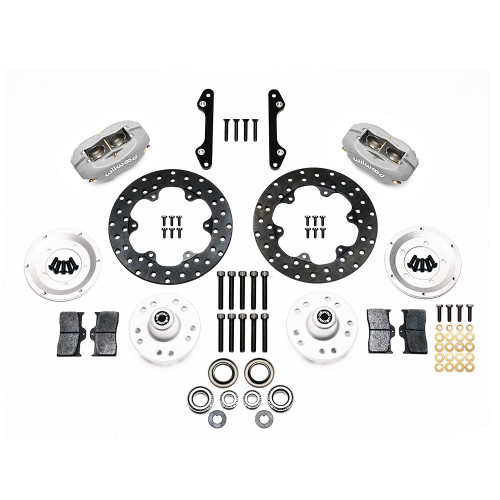 Wilwood 140-1013-BD Forged Dynalite Front Drag Brake Kit, 71-80 Pinto/Mustang II Disc & Drum - Kit