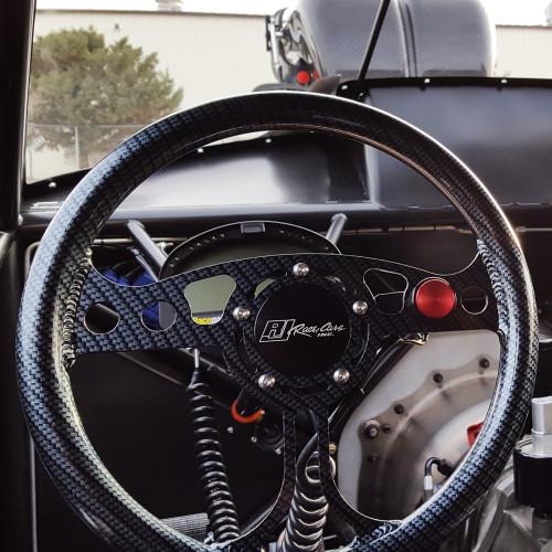 "12"" RJ Max Lightweight Steering Wheel, 5-Bolt, Carbon Finish"