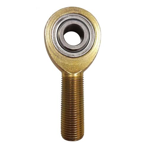 """FK Rod Ends 1/2"""" Bore x 5/8""""-16 Thread RH Male Mild Steel FK Rod End"""