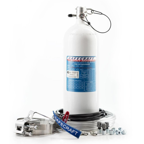 Safecraft LT10JAA 10 Lb Fire System, 3M Novec 1230 Fire Protection Fluid, Pull Cable & Aluminum Tubing Kit