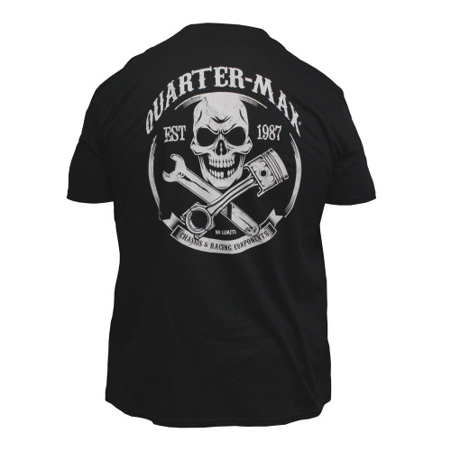 Quarter-Max Skull T-Shirt - Back