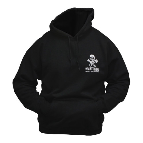 Quarter-Max Skull Hooded Sweatshirt - Front
