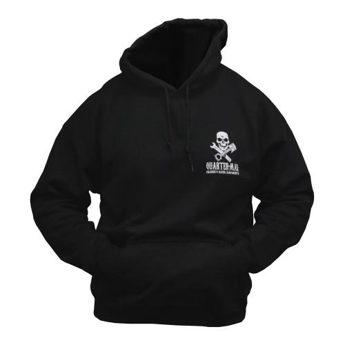Quarter-Max Skull Hooded Sweatshirt - Front