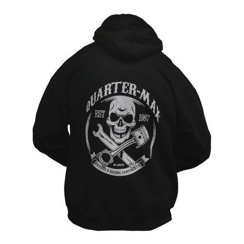 Quarter-Max Skull Hooded Sweatshirt - Back