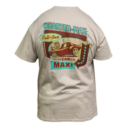 Quarter-Max Vintage T-Shirt - Sand, Back
