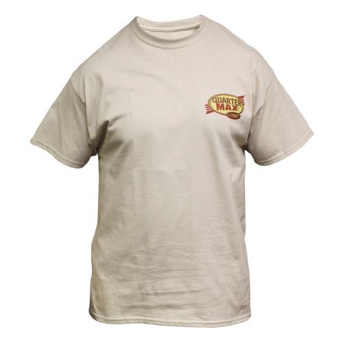 Quarter-Max Vintage T-Shirt - Sand, Front