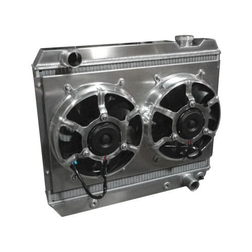 Entropy Radiator 1963-1966 Chevy Pickup LSX Conversion Aluminum Radiator with Dual HPX Fans