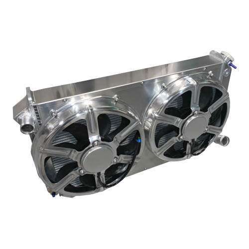 """Entropy Radiator 1967-1972 Chevy Pickup 1000 Horsepower Radiator with Dual 16"""" HPX Fans"""