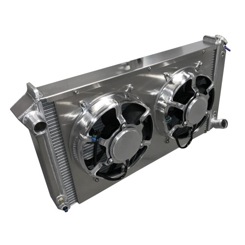 Entropy Radiator 1967-1972 Chevy Pickup Aluminum Radiator with Dual HPX Fans