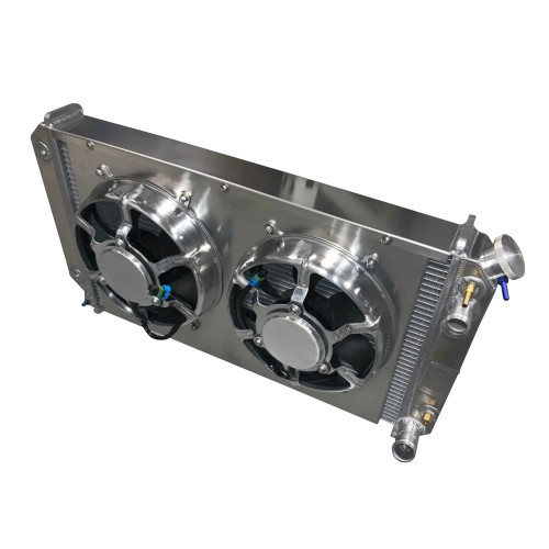 Entropy Radiator 1967-1972 Chevy Pickup LSX Radiator with Dual HPX Fans
