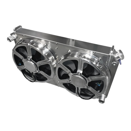 """Entropy Radiator 1968-1977 GTO/Lemans 900 Horsepower Cooling Power Radiator with Dual 16"""" HPX Fans"""